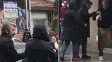 El gesto de Ricardo Darín con un hombre que estaba tirado en la calle en pleno diluvio