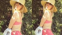 January Jones continues to slay summer in a repeat one-piece