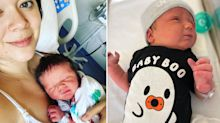 'BABY IN THE BED!': Mum gives birth to son while fast asleep
