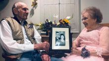 Couple in viral anniversary photo shoot credits 'hard work' for 72-year marriage
