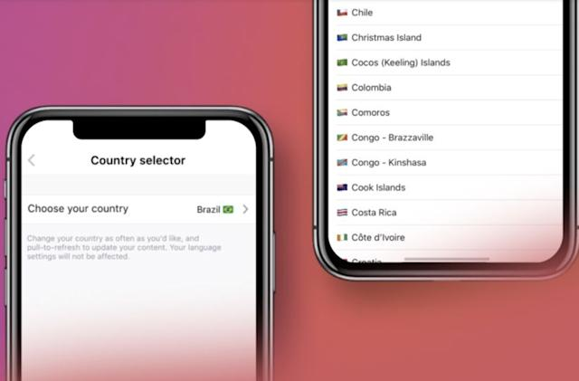 Deezer's country selector lets you listen to music and podcasts like a local