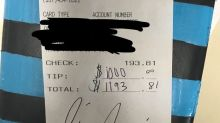 Chrissy Teigen leaves lucky waitress $1,000 tip at Outback Steakhouse