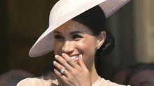 Herzogin Meghan: Darum musste sie bei ihrem ersten öffentlichen Auftritt so kichern