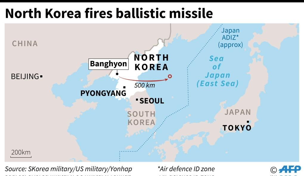 North Korea missile test (AFP Photo/Laurence CHU, Kun TIAN)