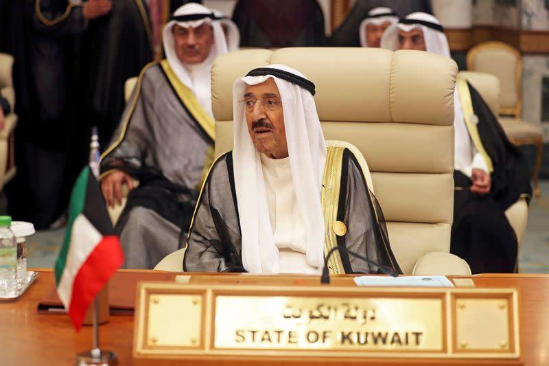 FILE PHOTO: Kuwaiti Emir Sheikh Sabah al-Ahmad al-Jaber al-Sabah is seen during the Arab summit in Mecca