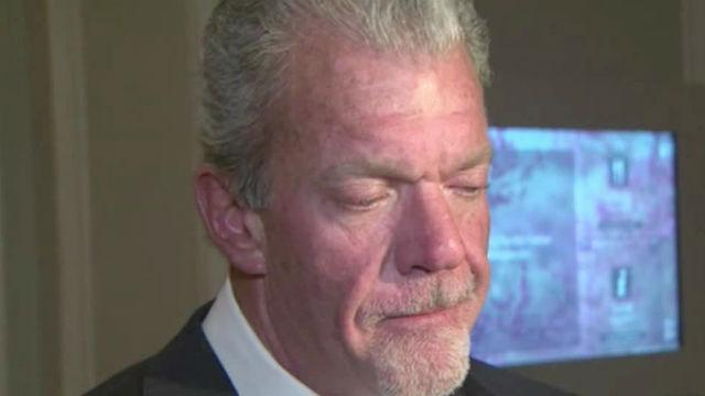 Irsay speaks to media about Indy's bid for Super Bowl