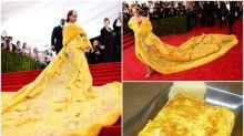 【撞樣】日本網民熱傳 Rihanna條裙超似「厚燒玉子」