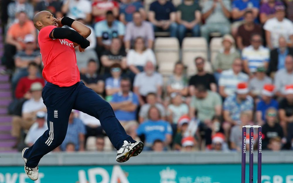 Tymal Millswas bought by the Royal Challengers Bangalore for £1.4m - This content is subject to copyright.