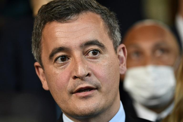 French Interior Minister Gerald Darmanin denies the allegations against him (AFP Photo/Anne-Christine POUJOULAT)