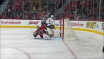 Reto Berra makes unbelievable pad save in SO