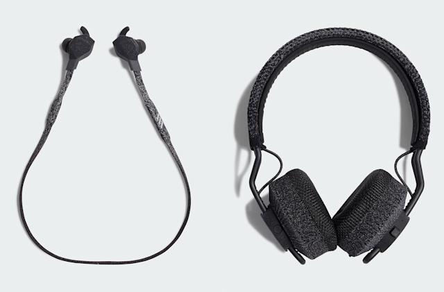 Adidas' latest workout headphones have knitted bands and ear cushions