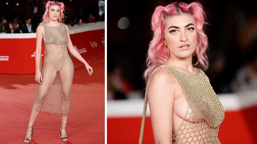 Star's naked dress turns heads on red carpet
