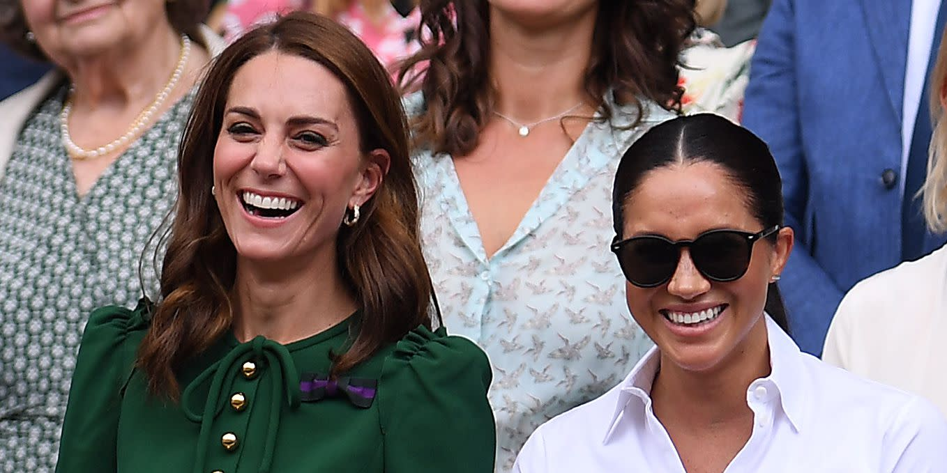 457df5b6971d You Definitely Missed Kate Middleton Comforting Meghan Markle After Serena  Williams Lost at Wimbledon