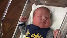 2-Foot-Tall Newborn Tips Scales at More Than 12 Pounds