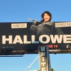 'Halloween' billboard hijacked by conservative street artist to attack Maxine Waters