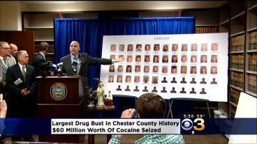 44 Arrested For Cocaine Trafficking in Chester County, Pa.