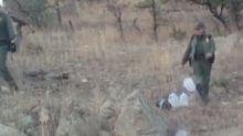 US border patrol exposed kicking over water bottles left for migrants