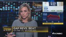 Gap beats earnings, revenue expectations
