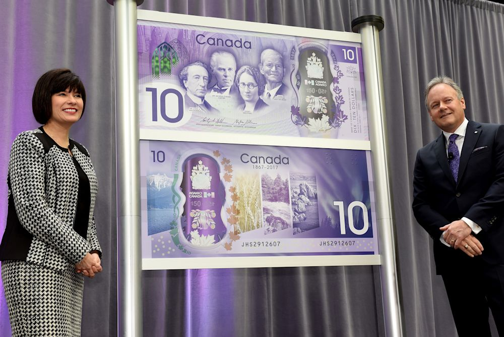 On April 7, 2017, the commemorative bank note celebrating Canada's 150th anniversary of Confederation was unveiled at the Bank of Canada's head office in Ottawa. (Bank of Canada/Flickr)