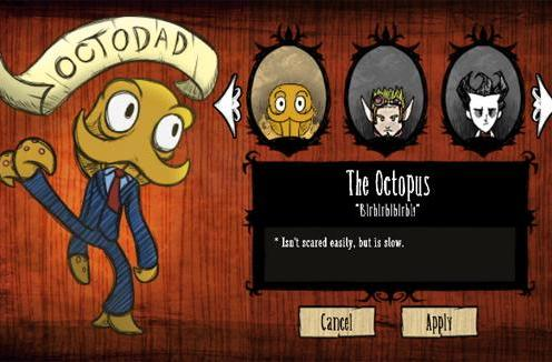 Multi-appendaged mod sneaks Octodad into Don't Starve