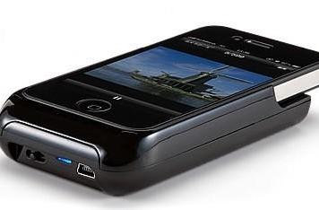 Sanwa pico projector also charges your iPhone