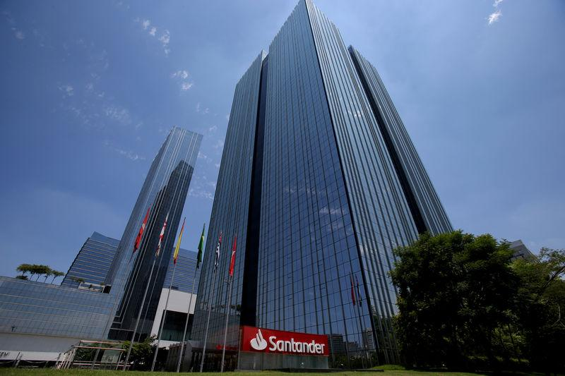 Santander Bank Office Building Is Seen In Sao Paulo