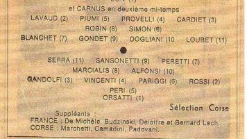Le jour où les Bleus ont perdu face à la Corse