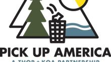 "Outdoor Industry Leaders THOR & KOA Partner To ""Pick Up America"""
