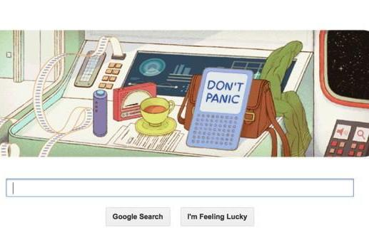 Google Doodle celebrates Douglas Adams' 61st birthday