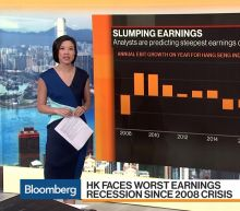 Hong Kong Faces Worst Earnings Recession Since 2008 Crisis