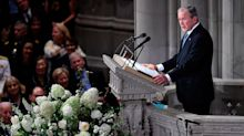 George W. Bush Slipped a Piece of Candy to Michelle Obama at McCain's Funeral