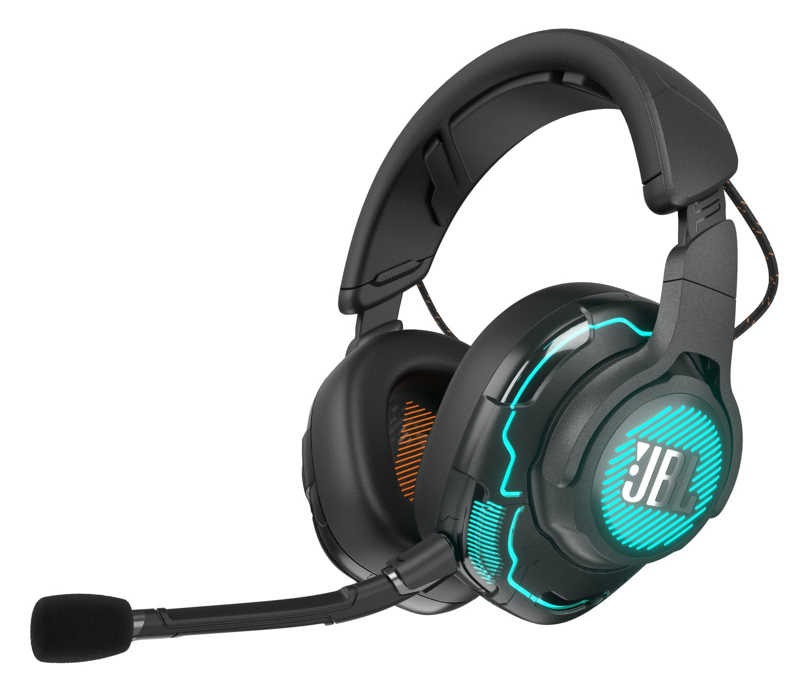 JBL Quantum Gaming headphones and speaker