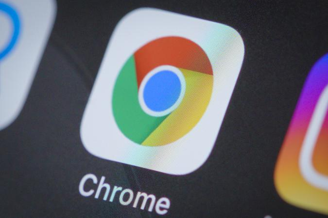 The Google Chrome  browser application is seen on an iPhone 11 Pro Max in this illustration photo in Warsaw, Poland on April 4, 2020. (Photo Illustration by Jaap Arriens/NurPhoto via Getty Images)