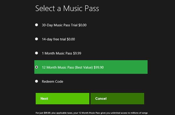 US pricing leaks for incoming Xbox Music service