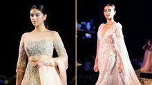 In Pics: Radhika Apte & Aditi Rao Hydari Walk For Manish Malhotra