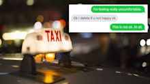 Young woman sent 'creepy' texts from taxi driver after her journey