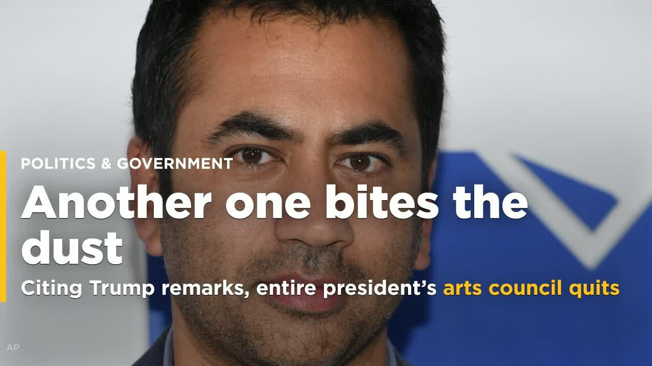 Citing Trump remarks, entire president's arts council quits