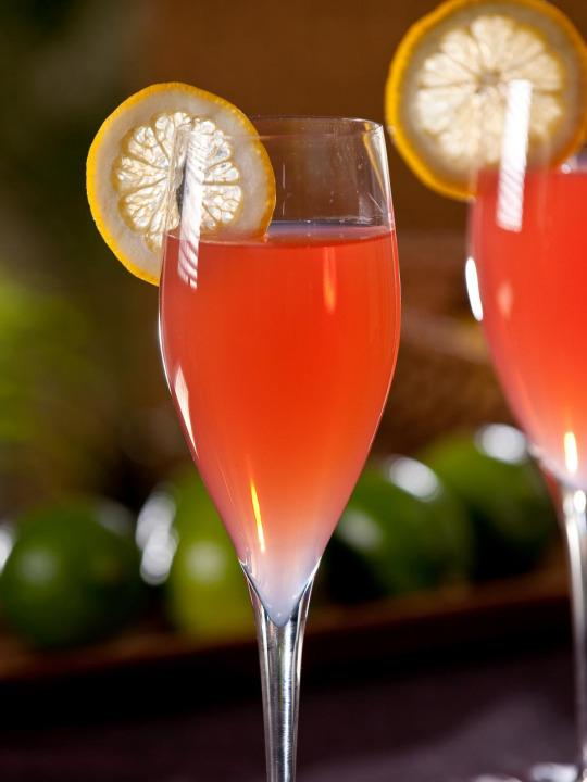 """<p>Whether you're rendezvousing on a romantic island getaway or keeping warm by the fire, you can channel an island feel with this beachy delight. A mix of Malibu rum, lime and lemon juice makes for a fun, flirty cocktail — perfect to share with someone special. <b><a href=""""http://www.hgtv.com/design/make-and-celebrate/entertaining/romance-caribeno-cocktail?oc=PTNR-YahooMakers-HGTV-valentines_cocktails"""" rel=""""nofollow noopener"""" target=""""_blank"""" data-ylk=""""slk:Get the recipe."""" class=""""link rapid-noclick-resp"""">Get the recipe.</a></b></p>"""