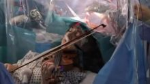 Spectacular footage shows violinist playing while surgeons remove brain tumor