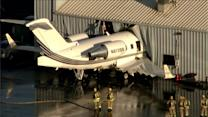 Raw: Jet Slams into Hangar at Chino Airport