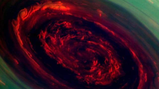Massive storm hits Saturn's North Pole