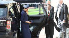 Meghan Markle de Givenchy en la boda de Eugenia de York