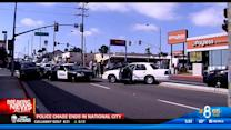 Police chase ends in National City