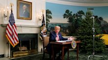 People Can't Believe Donald Trump's Tiny-Looking Desk For His Thanksgiving Rant Isn't A Joke