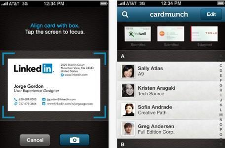 CardMunch app adds LinkedIn profiles