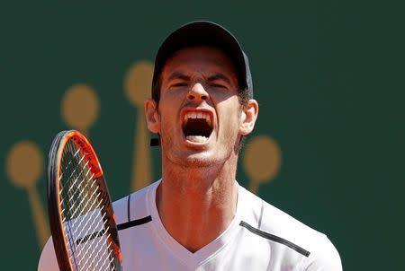 El tenista escocés Andy Murray reacciona durante un partido contra Albert Ramos en Montecarlo. Imagen de archivo