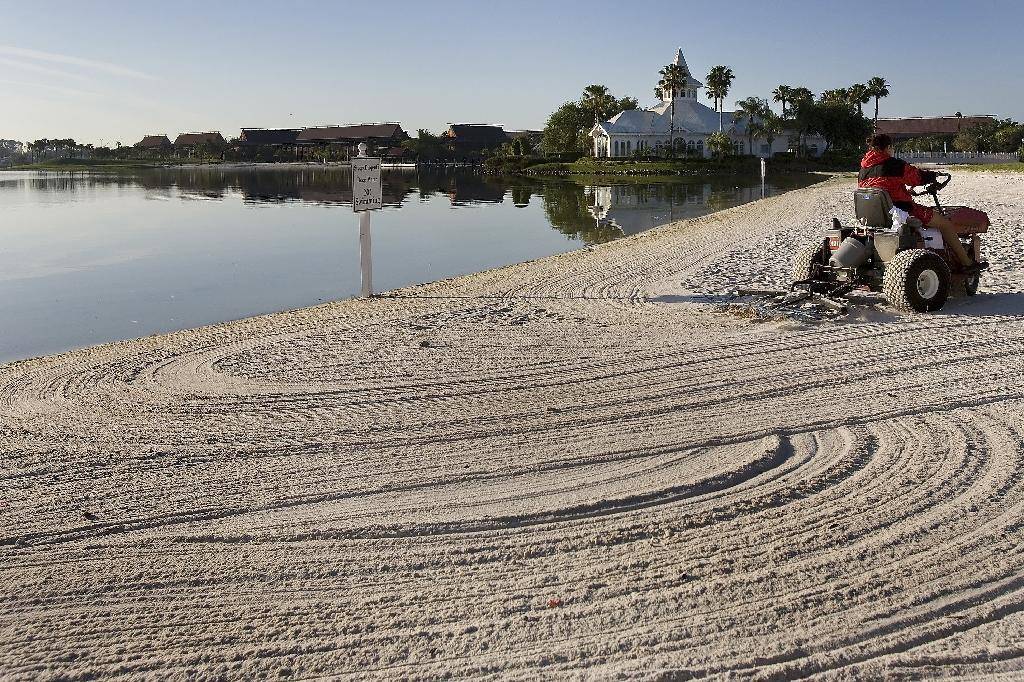 This 2008 photo shows the beach at the Grand Floridian hotel at Disney World in Orlando, Florida where a boy was attacked by an alligator (AFP Photo/Jim Watson)
