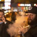 Photos: Canadians celebrate pot legalization by lighting up