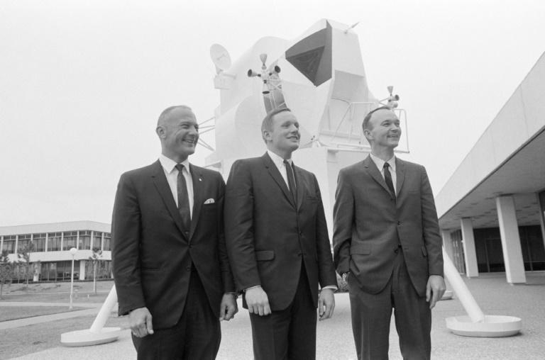 This NASA file photo obtained July 16, 2019 shows a portrait of the prime crew of the Apollo 11 lunar landing mission taken on January 10, 1969 the day after the announcement of the crew assignment (AFP Photo/HO)