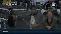 Russell Wilson attends the Coyotes-Kings game